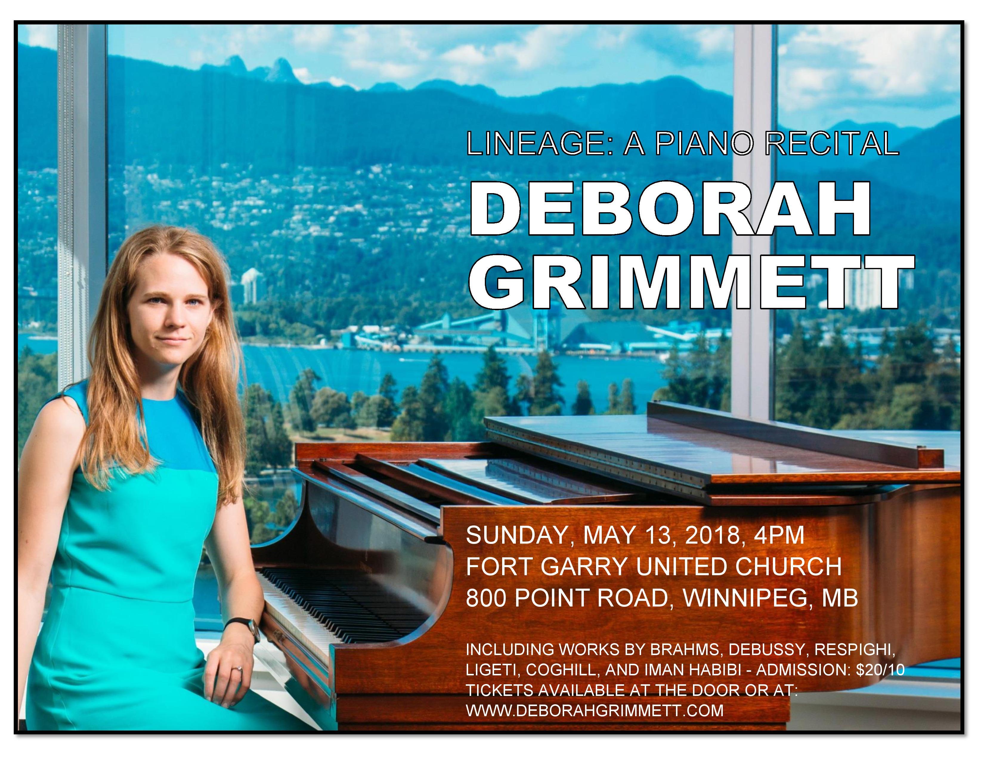 Winnipeg Piano Recital Classical Music